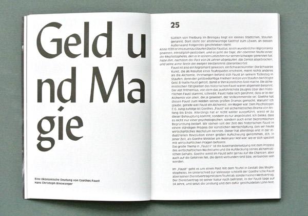 Die gleiche Doppelseite in der Thalia-Theater-Ausgabe. Foto: Gudrun Pawelke