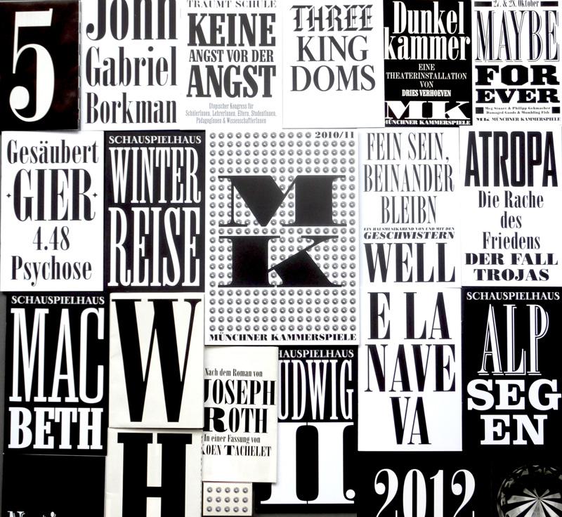 Werbemittel der Münchner Kammerspiele. Foto: Gudrun Pawelke