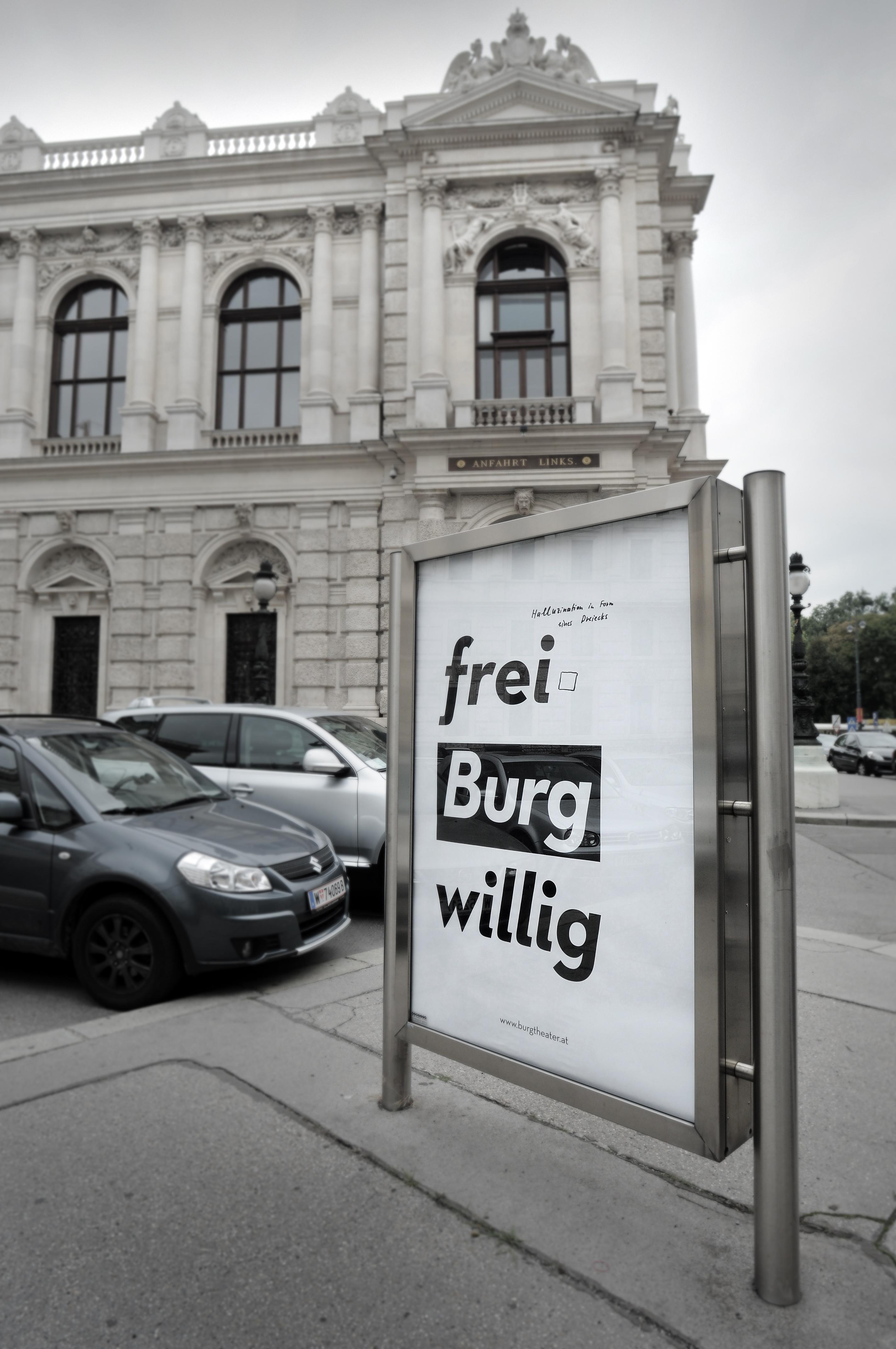 Burgtheater Kampagne. Foto: Burgtheater Wien